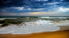 Paradise (rameshsar) Tags: 1655 ihg intercontinenatal mahabalipuram fuji xt1 beach sea surf paradise colors clouds painting