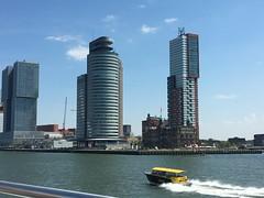 Rotterdam zuid (sanneveth) Tags: rotterdam maas kopvanzuid hotelnewyork watertaxi nofilter iphone spido rotterdamzuid iphone6s