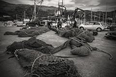 The fishing business.... (Dafydd Penguin) Tags: fishing trawler net nets fish fisherman mallaig scotland west coast habour harbor port dock blackandwhite blackwhite black white monochrome nikon d600 nikkor 20mm af f28d