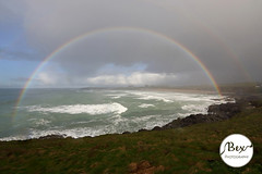 Fistral Double Rainbow (Bex Photography Newquay) Tags: ocean uk pink blue light red orange cliff cloud seascape storm colour green beach rain yellow canon hotel rainbow pretty cornwall waves colours photographer purple spectrum cloudy newquay stormy bex 5d raincloud kernow fistral roalddahl thewitches headlandhotel theheadlandhotel beccymelling beachheadland 5dmarkiii bexphotography headlandhotelnewquay newquayphotographer photographerdouble cornwallphotorcornwall photographercornishcornish rainbowfistral bexphotographynewquay