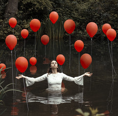 Lost in Neverland (Tiffany Peyrel) Tags: balloons photography surrealism fineart fine surreal fineartphotography