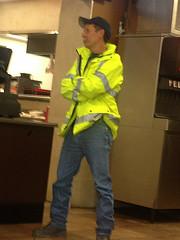 firefighter with moustache (PeepHole of New York) Tags: slicker yellowslicker fireman raingear raincoat yellowraincoat