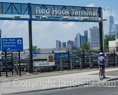 Red Hook Container Terminal, Brooklyn, New York City (jag9889) Tags: nyc newyorkcity usa house ny newyork building bike bicycle architecture brooklyn skyscraper cycling cyclist unitedstates outdoor unitedstatesofamerica worldtradecenter terminal container wtc redhook 1776 portauthority 2016 kingscounty freedomtower 1wtc oneworldtradecenter jag9889 20160528
