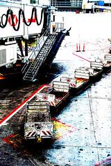 2016/366/153 Gate 57 (Edna Winti) Tags: airport posterized yyc calgaryinternationalairport ednawinti 2016366