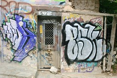 (Brian Aslak) Tags: door city urban wall graffiti europe hellas athens greece attica
