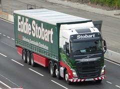H4554 - KX16 FGJ (Cammies Transport Photography) Tags: truck volvo yvonne lorry margaret eddie fh flyover esl a90 inverkeithing hillfield stobart kx16 fgj eddiestobart h4554 kx16fgj