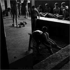 reflections, kusti (nevil zaveri (thank you for 10 million+ views :)) Tags: shadow portrait people blackandwhite bw india man reflection men sports monochrome kids children photography mirror photo kid photographer child exercise legs god photos body wrestling traditional stock culture competition games images pit bodybuilding soil photographs photograph hanuman match maharashtra wrestler recreation tradition stool zaveri warmup gymnasium trainer stockimages sandpit trainee nevil kolhapur akhara squarecropped kusti dangal pehlwan pehlwani nevilzaveri motibaug