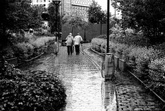 At the end of the way (pascalcolin1) Tags: old blackandwhite reflection rain way noiretblanc path pluie chemin streetview vieux paris13 pavs photoderue urbanarte photopascalcolin