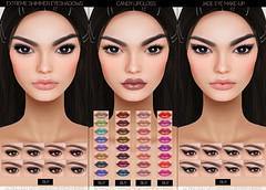 Make-Up Appliers @Cosmetic Fair (Freezea Fluture) Tags: secondlife sl genesislab genesis meshhead applier makeup