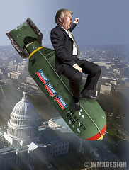 Donald Trump  Nuke Em' High (WMxdesign) Tags: donald trump nuke em high nuclear codes finger button gop republican president presidential election bomb missile icbm washington war fascist