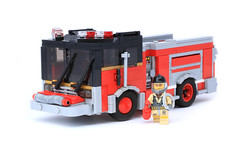 Chicago Fire (Lego Junkie.) Tags: chicago truck fire lego