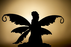 Wishing you all the best Wing Wednesday ever -) (The Mad Macrographer) Tags: silhouette wings fairy tabletopphotography canon7d canonef100mmf28lmacroisusm indoors nikkvalentine peterborough uk ornaments figurines