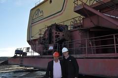 Secretrio visita  mina em Candiota (Lucas Redecker) Tags: do minas lucas leo sme secretrio redecker