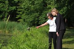Senator Catherine Young (Jamestown Audubon) Tags: water big pond jane senator young chestnut ruth conroe lundin