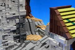 NoFig//Behind the tower2 (CeiCrownieGuy) Tags: ocean docks lego no lor figs lenfald crakenhaven