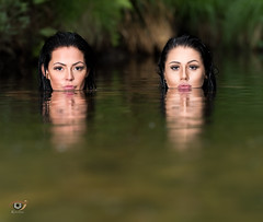 Ida & Lea (Gjesdal.org) Tags: portrait water norway nikon no lea ida rogaland d810 topazclarity drangsdalen nikon70200mmf28gafsvriied