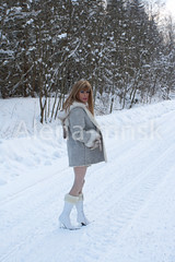 So want the snow during this days (Alena_mnsk) Tags: highheels tgirl wig crossdress boyindress