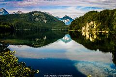 Reflejos (raperol) Tags: travel viaje germany lago agua 300d paisaje alemania neuschwanstein reflejos 2007 baviera airelibre