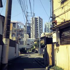 (  / Yorozuna) Tags: road japan tokyo alley alleyway    higashishinjuku   apartmenthouse         shinjukuward   wakamatsukawada