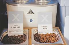 Brazil v Ethiopia (35mm) (jcbkk1956) Tags: brazil coffee analog 35mm thailand bangkok coffeeshop manual ethiopia coffeebeans carlzeiss kodacolor200 thonglo contaxrts 45mmf28 rocketx