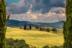 Glimpse (26/52 late) - Explored (jrobblee) Tags: italy church clouds landscape chapel tuscany cypress vitaleta