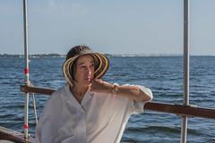 DSC_5909 (Pasquesius) Tags: sea hat ferry lady island boat barca mare lagoon tourist sicily laguna saline sicilia cappello saltponds isola turista traghetto marsala mozia signora mothia stagnone motya riservanaturaledellostagnone