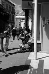 Big Issue Seller (FujiPhotoMan) Tags: street uk big cornwall scene fujifilm f2 falmouth issue seller xt1 xf35mm
