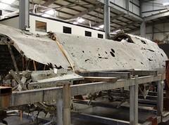 Dornier Do 17 Wreckage (MJ_100) Tags: museum plane germany airplane aircraft aviation military wwii aeroplane german ww2 restoration wreck bomber wreckage raf secondworldwar luftwaffe dornier cosford royalairforce do17