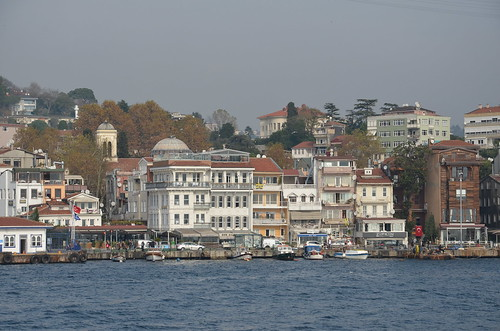turkey europe türkiye riverboat housing eurasia upperdeck cruiseboat constantinople settlements boatdeck bosphorusriver europeanside localhouses bosphorusrivercruise largepassengerboat