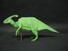Parasaurolophus 2014 (shuki.kato) Tags: history paper origami dinosaur fold past dinosaurs herbivore kato shuki parasaurolophus hadrosaur