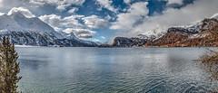 Silsersee - HDR (bohnengarten) Tags: mountain lake alps eos schweiz switzerland maria swiss berge alpen engadin segl sils graubnden 70d silsersee