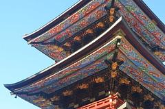 25m pagoda built in 1712 (malinowy) Tags: winter japan 35mm temple pagoda nikon buddhist nippon nikkor zima narita naritasan honshu shingon japonia swiatynia malinowy d7000 shinshōji malinowynet