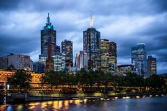 Melbourne (Alainduclub) Tags: blue station long exposure melbourne victoria hour pause flinders heure bleue australie longue