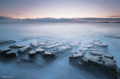 Low Newton-by-the-Sea (Steve Clasper) Tags: uk longexposure seascape dawn coast rocks north northumberland coastal northern formations dunstanburgh lownewtonbythesea steveclasper