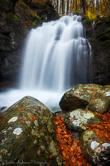 Fraktos I (Christos Andronis) Tags: autumn orange wet water forest freedom waterfall energy tranquility boulder foliage landscapephotography beautyinnature      inlandwaters