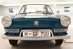 1964 BMW 700 LS Coupe at the BMW Museum in Munich, Bavaria, Germany (UweBKK ( 77 on )) Tags: show old blue classic car museum vintage germany munich mnchen bayern deutschland bavaria room sony exhibition bmw oldtimer alpha dslr 700 77 coupe ls 1964