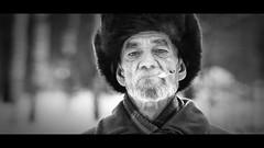 Father out Law (AKfoto.fr) Tags: portrait blackandwhite bw noir noiretblanc cigarette smoke nb siberia blanc fatherinlaw outlaw 70200l novossibirsk chapka