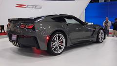 2015 Corvette Z06 in Shark Gray (bbossingg) Tags: auto show ford car gm miami stingray 911 international porsche bmw mustang m3 50 corvette m4 z06 2014 macan ftype z51 z07