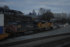"""""""Clear Sailing"""" NS 222 11/27/14 Pic 2 (tjtrainz) Tags: atlanta ex up speed train ga georgia pacific ns district union norfolk clear southern sp lettering division signal piedmont greenville 222 interlocking howell espee intermodal patched sd70ace ac4400cw"""