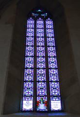 Stained glass window (Osdu) Tags: world city travel tourism europe catholic cathedral slovakia bratislava stainedglasswindow romancatholic religios