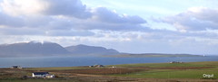 A Petertown Panorama - December (orquil) Tags: uk winter panorama lighthouse snow seascape west sunshine flow island islands scotland orkney december hills hoy cloudscape scapa graemsay petertown