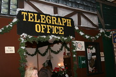 Dickens Christmas Fair: Telegraph Office (shaire productions) Tags: sf christmas xmas costumes holiday festival cosplay traditional victorian fair faire annual tradition dickenschristmasfair sanfranciscoevent