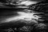 Coastline III (ilias varelas) Tags: longexposure light blackandwhite bw seascape black water monochrome weather clouds contrast landscape mono coast rocks ilias canonef1740mmf4l varelas canoneos6d