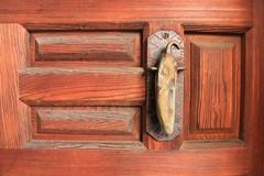 Green Chile Door Knocker (Facundity) Tags: chile newmexico southwest detail architecturaldetail portal doorknocker albuquerquenm canoneos70d