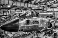 Museum of Flight Restoration Center (Chris Parmeter Photography (smokinman88)) Tags: blackandwhite bw museum plane canon airplane geotagged fighter aircraft jet museumofflight hdr hanger everett painefield blackwhitehdr canon6d