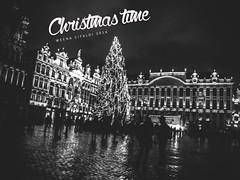 Christmas Time (WeenArtistic) Tags: christmas winter brussels white snow black wheel grande nikon time hiver bru