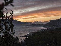 Yesa sunset (txokyt) Tags: ocean sunset sea water station clouds stars landscape northshore basquecountry pyrenees reflejos canfranc
