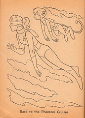 Space Ghost Coloring Book Page 2 (Whitman 1967) (Donald Deveau) Tags: monkey cartoon spaceghost tvshow coloringbook hannabarbera 1960stv