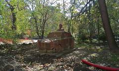 collage (Fif') Tags: park monument car statue sofia voiture bulgaria balkans parc trabant balkan bulgarie 2014 étrange spomenik sofija