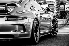Around the Corner (NiePhotography) Tags: arizona bw white black cars sports coffee monochrome car germany photo driving 911 january az super photograph german porsche processing scottsdale processed supercar turning lightroom 991 gt3 2015